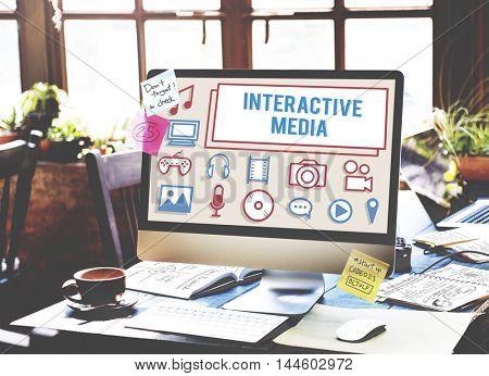Interactive Media Gadget Electronics Technology Concept