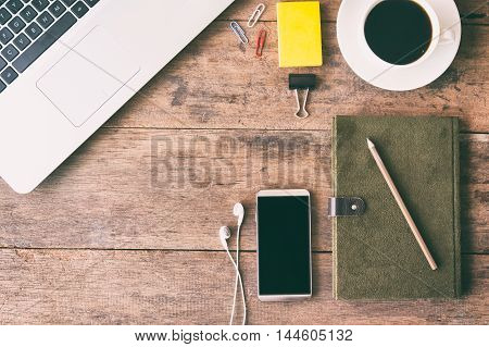 Business accessory. Laptop and smart phone for working business project. You can apply for business background,business backdrop and business wallpaper and everything about business background for your design.