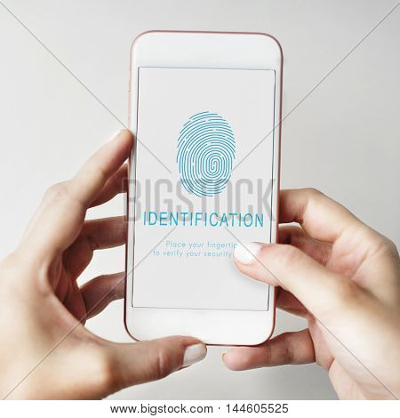 Fingerprint Password Biometrics Technology Concept