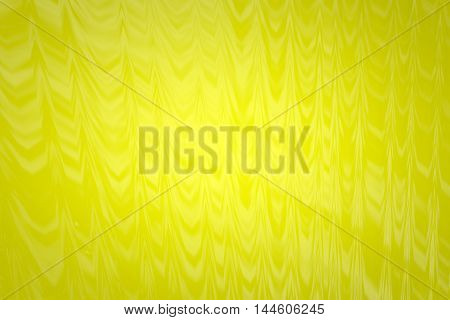 Abstract yellow glass background 3d rendering of computer visualization