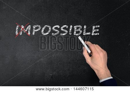 Impossible text write on black board