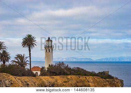 Lighthouse On California Coast
