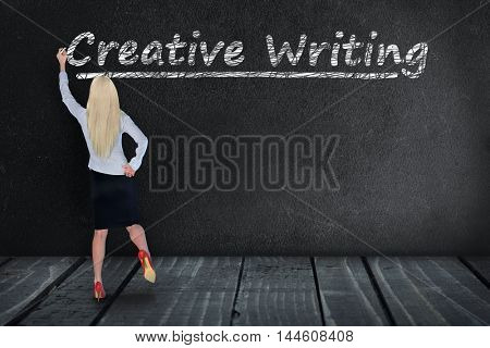 Creative Writing text write on black board