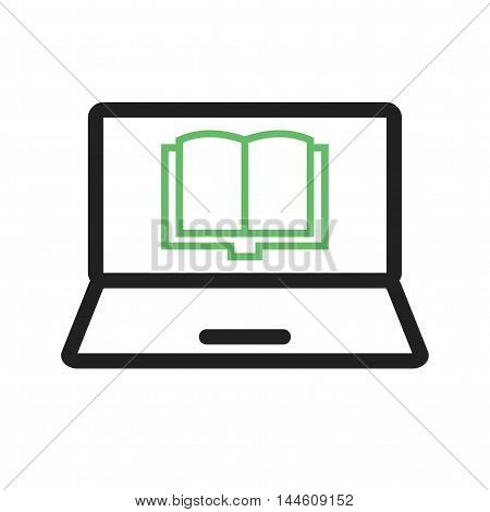 Reading, book, student icon vector image. Can also be used for E Learning. Suitable for mobile apps, web apps and print media.