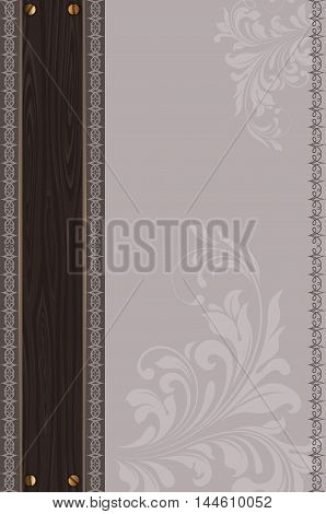 Vintage background with decorative border and decorative floral patterns.