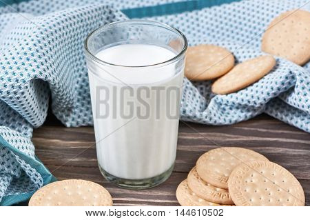 Glass With Milk And Cookies
