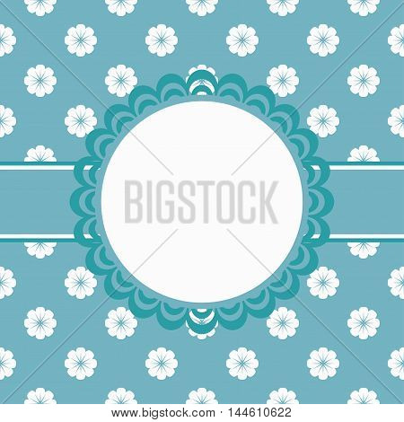 cute floral invitation card for your design