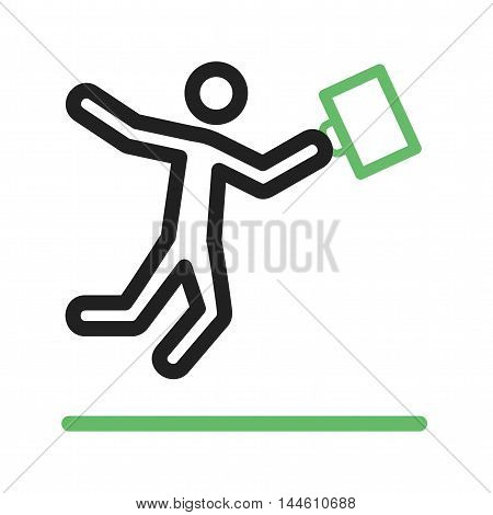 Businessman, jump, happy icon vector image. Can also be used for people. Suitable for use on web apps, mobile apps and print media.