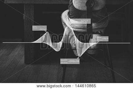 Abstract Graphic Art Virtual Reality Illusion Design Concept