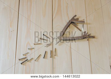 Open Multitool On The Floor