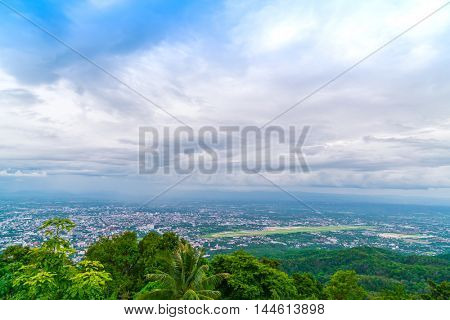 Aerial view of a city Chiang Mai, Thailand