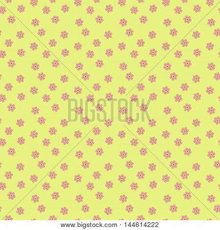 Elegant floral pattern in pale pastel tones