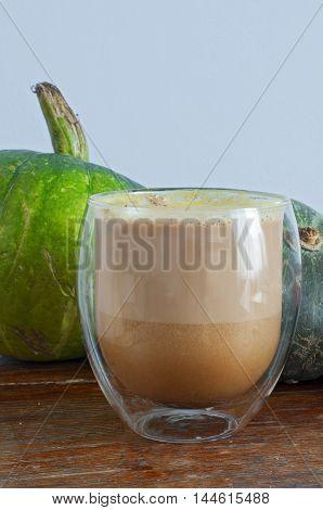 Autumn Pumpkin Spice Latte With Milk