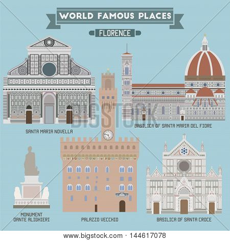 Famous Places of Florence capital city of the Italian region of Tuscany