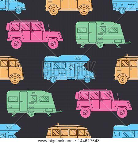 Camper Seamless Pattern