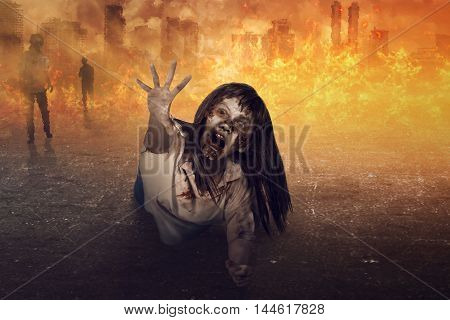 Asian Zombie Woman Is Anger