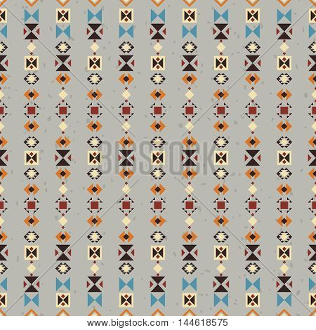 Ethnic seamless pattern. Aztec background made of abstract geometric elements