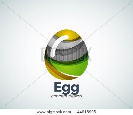 Vector egg logo template, abstract business icon