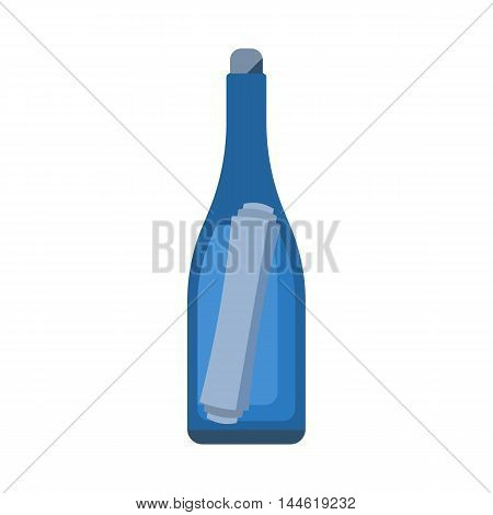Bottle With Letter