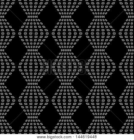 Rhombus chaotic seamless pattern. Fashion graphic background design. Modern stylish abstract texture. Monochrome
