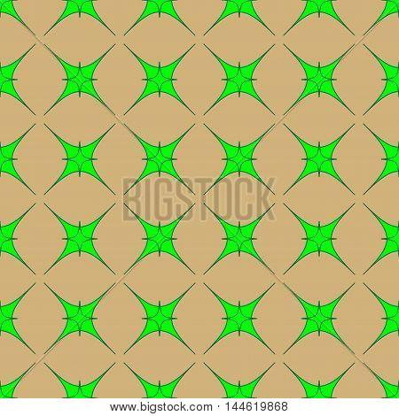 Star green geometric seamless pattern. Fashion graphic background design. Modern stylish abstract texture.