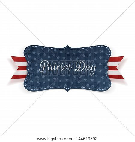 Patriot Day realistic Banner Template. Vector Illustration