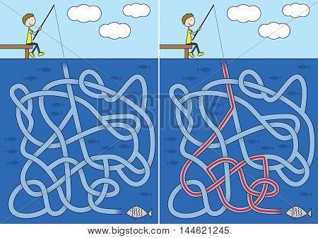 Fishing Maze