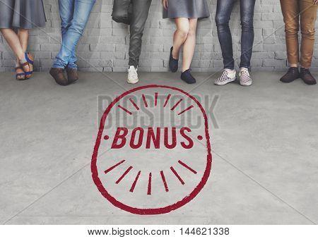 Bonus Benefit Reward Incentive Money Graphic Concept