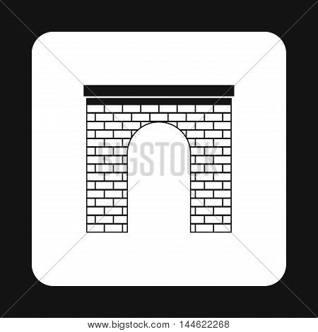 Brick arch icon in simple style isolated on white background. Construction symbol