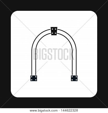 Steel arch icon in simple style isolated on white background. Construction symbol