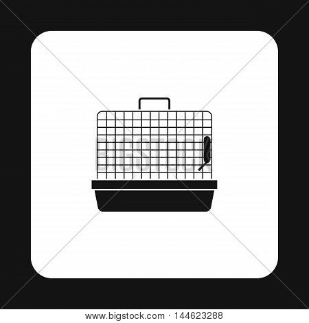 Cage for birds icon in simple style isolated on white background. Transportation of bird symbol