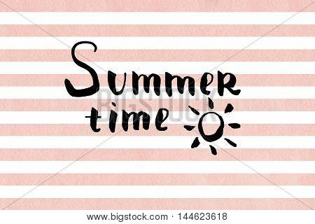 Summer Time Lettering.