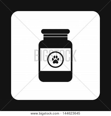 Treatment solution for animals icon in simple style isolated on white background. Veterinary symbol