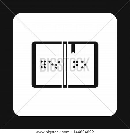Braille icon in simple style isolated on white background. Help blind people symbol