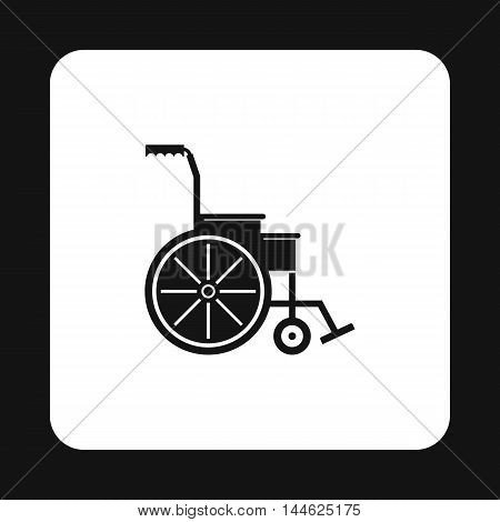 Wheelchair icon in simple style isolated on white background. Equipment symbol