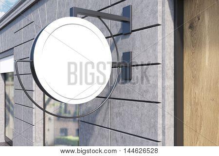 Round Sign Post