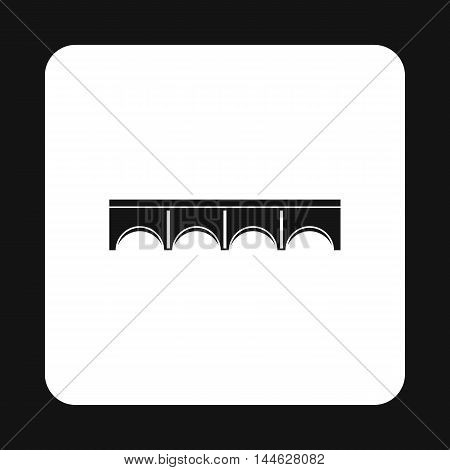 Direct bridge icon in simple style isolated on white background. Construction symbol