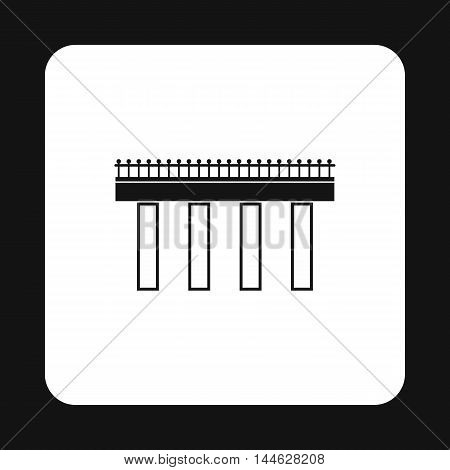 Steel bridge icon in simple style isolated on white background. Construction symbol