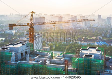 Building in construction in Chengdu Sichuan Province China
