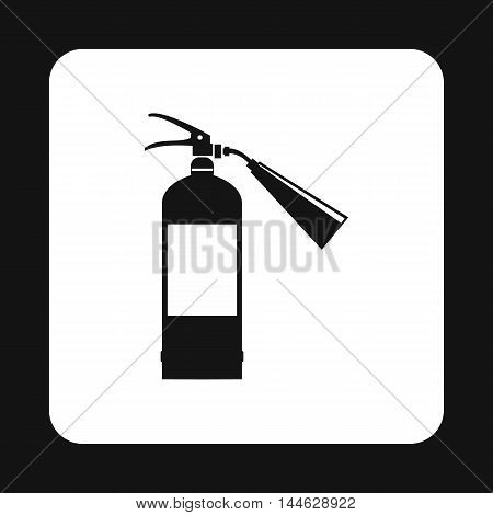 Fire extinguisher icon in simple style isolated on white background. Equipment fire symbol