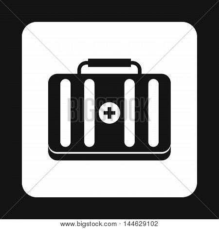First aid kit icon in simple style isolated on white background. Medicine symbol
