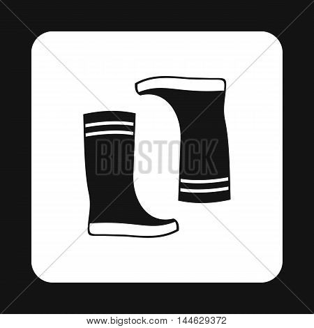 Boots icon in simple style isolated on white background. Shoes symbol