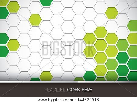 Vector of futuristic hexagon pattern and background