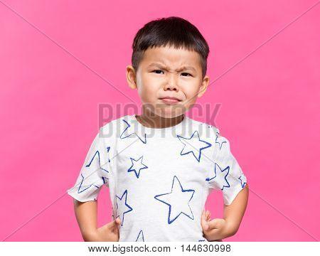Little boy feeling nervous