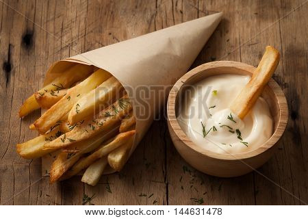 Fries French Sour Cream Still Life Close Up