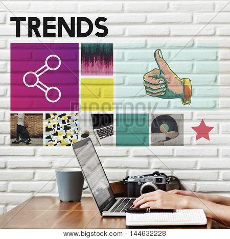 Trends Design Fashion Marketing Modern Style Concept