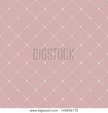Geometric dotted vector purple and white pattern. Seamless abstract modern texture for wallpapers and backgrounds