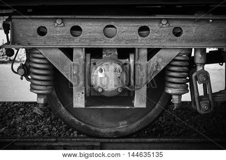 Railway Carriage Wheel With Suspension Details