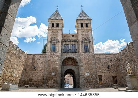 Toledo's gate or Puerta de Toledo in Madrid Spain