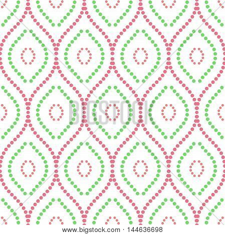 Seamless vector ornament. Modern geometric pattern with repeating colored wavy lines